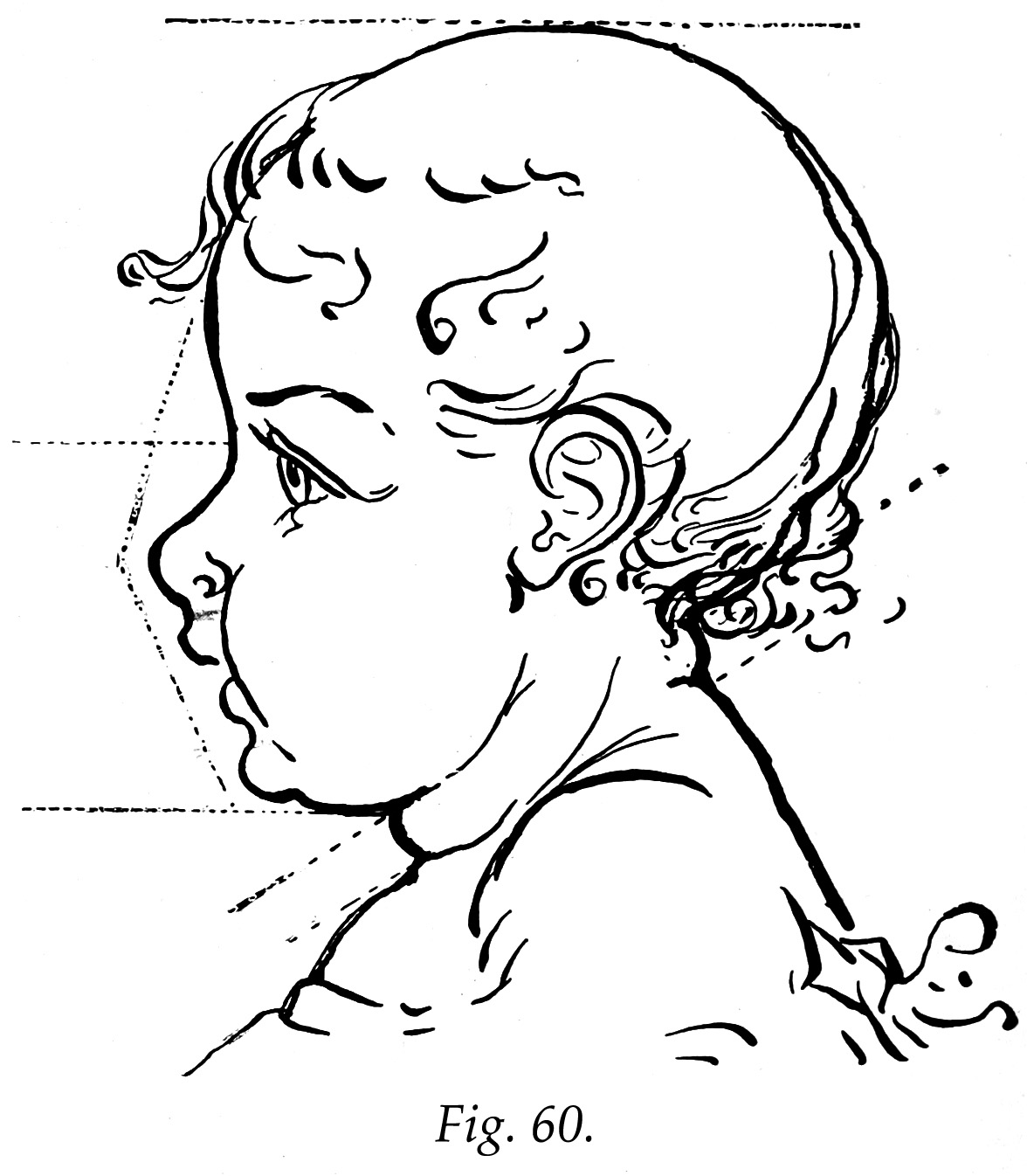 Line Drawing Baby Face :